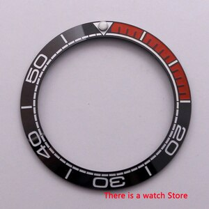 Watch parts 38mm ceramics Bezel with white mark Insert for 40mm Automatic Watches