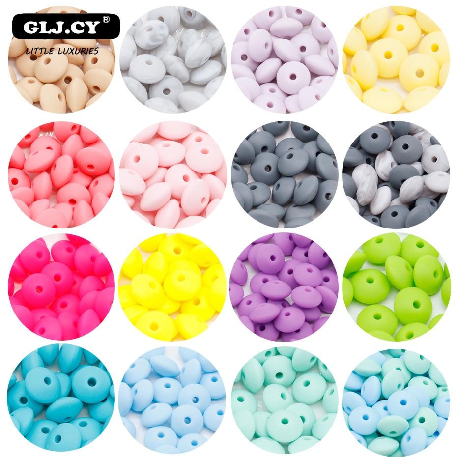 Collier de dentition en Silicone pour bébé   100 pièces, perles, Perle pour bébé, bricolage, Clip de sucette chaîne, produit de soins faisant sans BPA