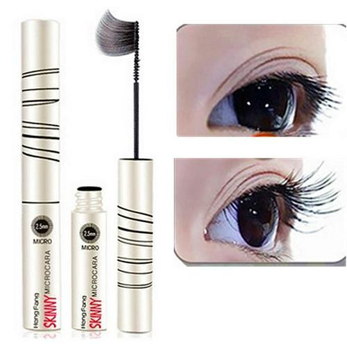 Fine Rotary Brush Head Mascara Waterproof 4D Silk Fiber Eyelash Extension Black Thick Lengthening Wo