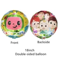 18inch cocomelon foil balloon party supplies decoration latex balloon birthday party decorations kids toy balloon baby shower