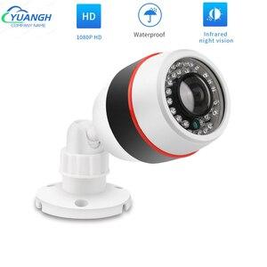 AHD Camera 1080P Outdoor Waterproof 1.7mm Fisheye Lens Video Surveillance IR Night Vision AHD CCTV Bullet Camera