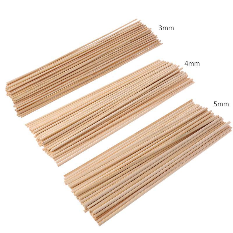 50 holz Anlage Wachsen Unterstützung Bambus Anlage Sticks Garten Canes Pflanzen Blume Unterstützung Stick Cane A69D