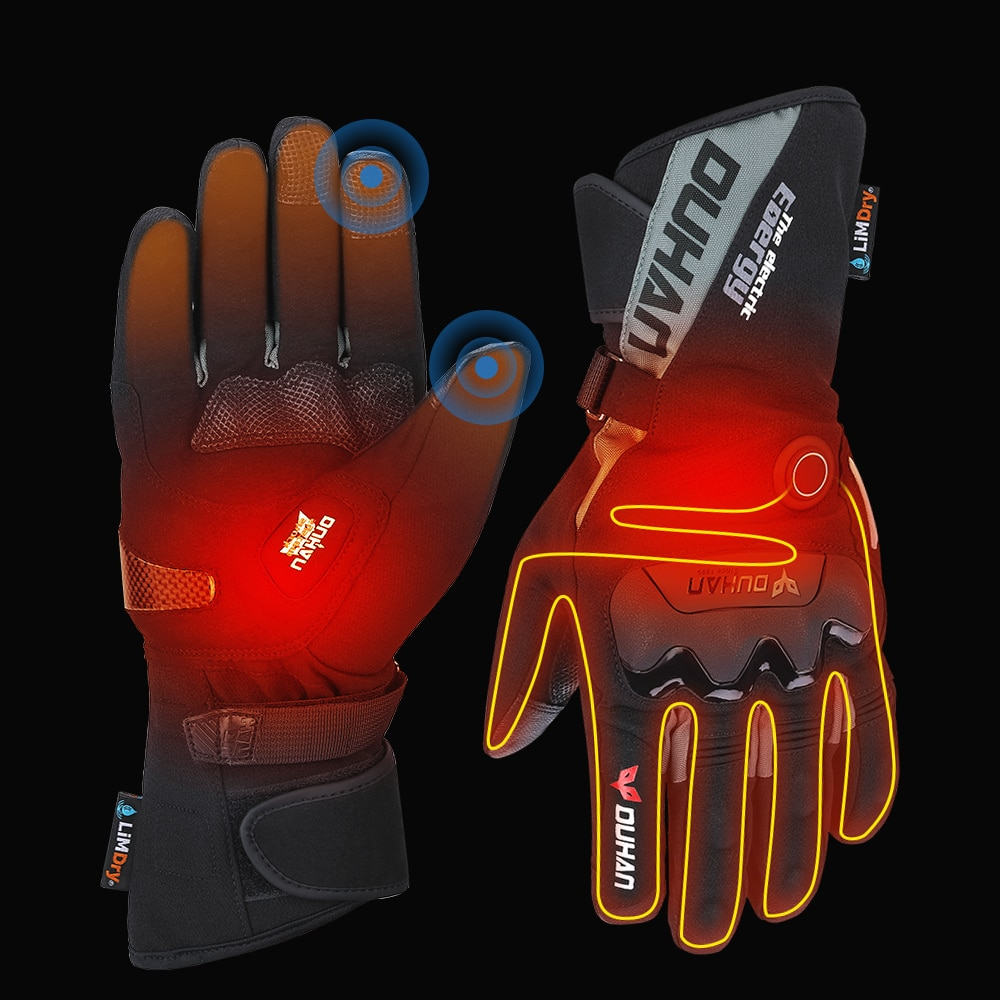 savior heating gloves thickened battery heating warm outdoor gloves motorcycle gloves shatter resistant gloves shell Motorcycle Heated Gloves Touch Screen Winter Warm Skiing Gloves Waterproof Rechargeable Heating Thermal Gloves For Snowmobile