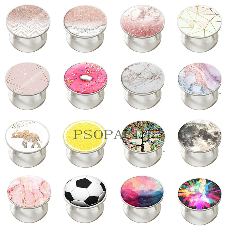 Expanding Phone Socket Ring Holder Universal Mobile Phone Accessories Finger Grip Holder Flexible Phone Stand For All Phones