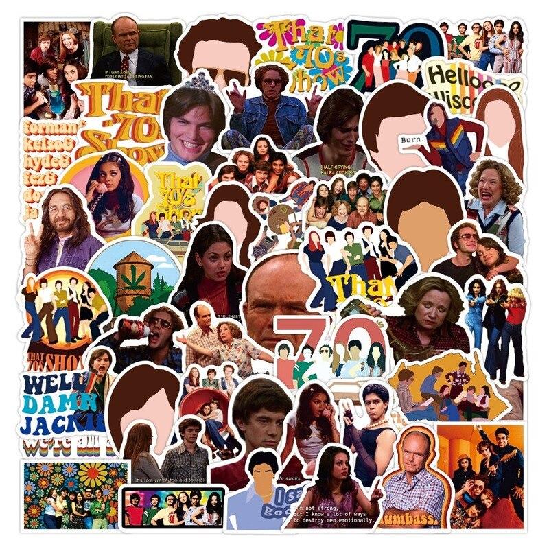 Стикеры «Комедия 70s» для шоу, Классические игрушки «сделай сам» для скейтборда, холодильника, телефона, гитары, путешествий, сноуборда, мото...