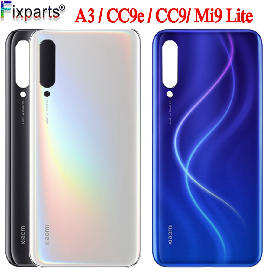 For Xiaomi MI a3 cc9e battery cover back glass Housing Back Case Backshell for xiaomi MI CC9 MI 9 li