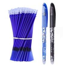 53 Pcs/Lot effaçable stylo recharge ensemble lavable poignée 0.5mm bleu noir encre effaçable stylo recharge tige école bureau écriture papeterie