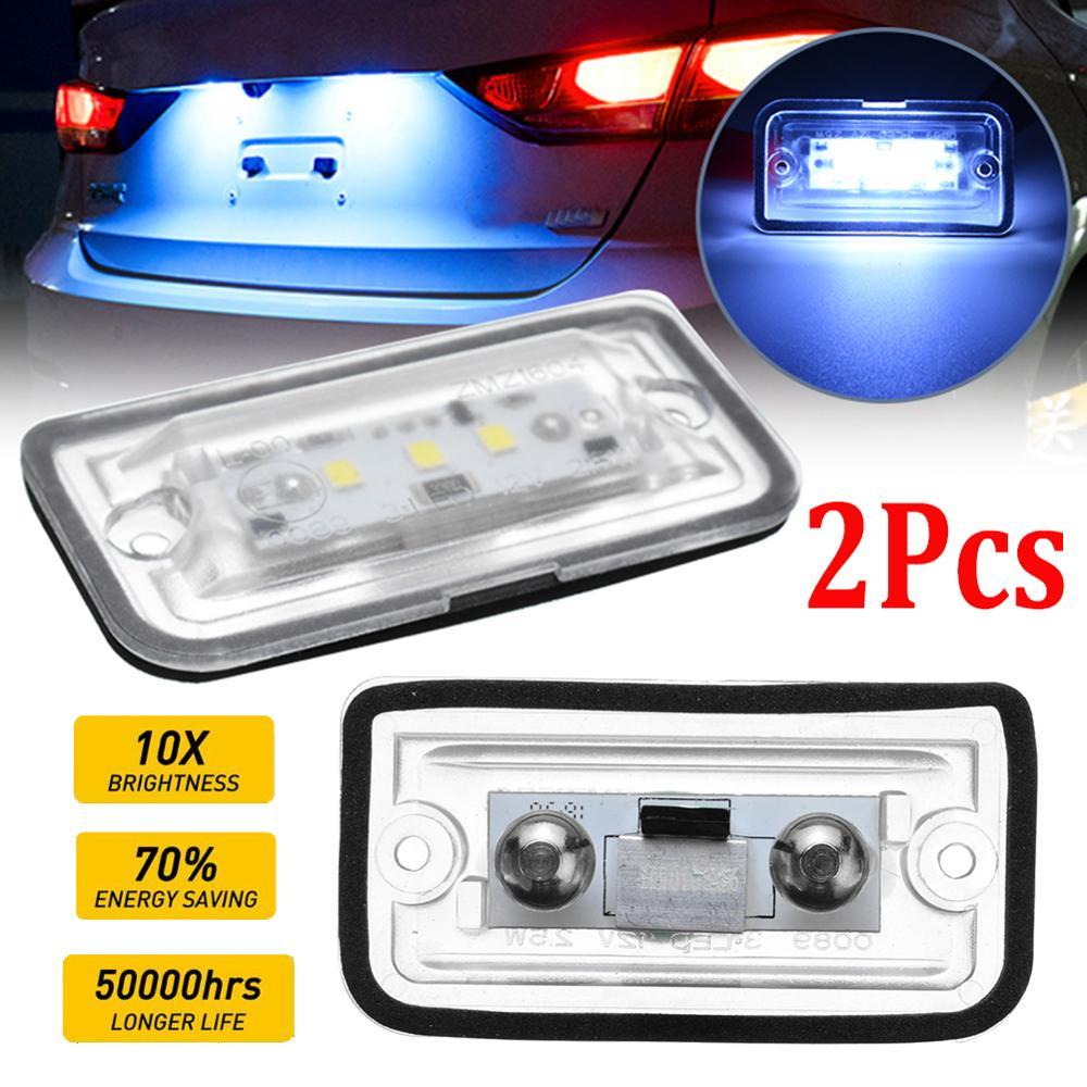 2pcs Car Lights LED License Plate Light 6000K Super Bright Number Plate Lamp For Mercedes Benz C W203 CLK W209 SL R230