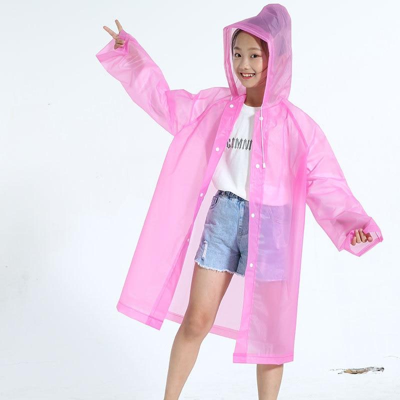 CHILDREN'S Raincoat Baby Hiking Thick Eva Young STUDENT'S Raincoat BOY'S Girls One-piece Full Body Poncho