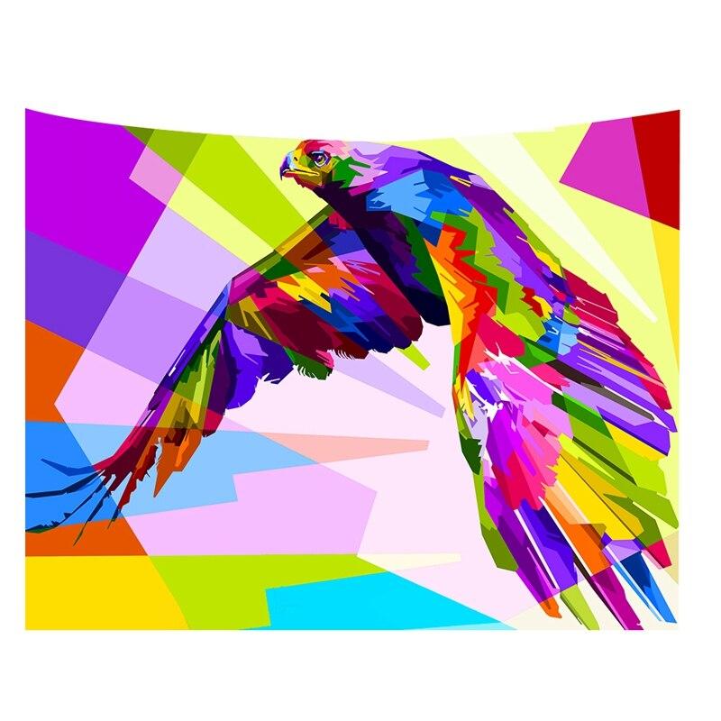 Animal legal cor padrão tapeçarias de impressão de parede tapeçarias sofá mesa capa de cama decoração para casa presente W180620-G010 #