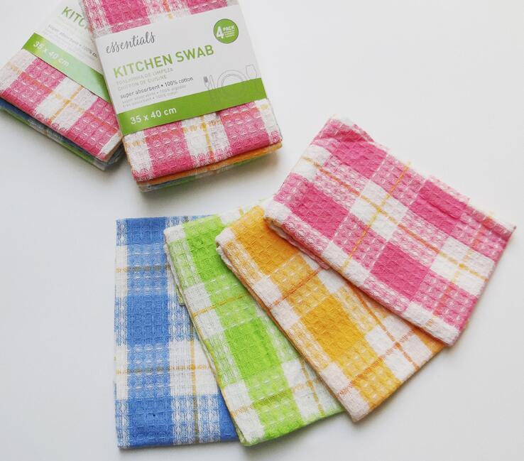 Super absorvente cozinha cotonete toalha de cozinha prato toalha pano de limpeza 30cm x 40cm algodão 4 unidades/pacote
