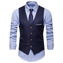 2020 nouveaux hommes classique formel affaires grande taille hommes couleur unie costume gilet simple boutonnage affaires gilet gilet
