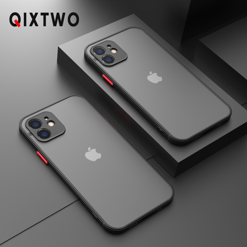 Luxury Silicone Shockproof Matte Phone Case For iPhone 13 12 11 Pro Max Mini X XS XR 7 8 Plus SE 2 2020 Transparent Thin Cover
