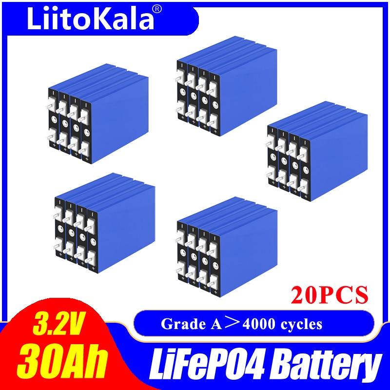 20 قطعة LiitoKala LiFePo4 3.2 فولت 30AH بطارية ليثيوم bateria لتقوم بها بنفسك 12 فولت lifepo4 e-الدراجة e عجلة سكوتر كرسي AGV سيارة عربات الغولف