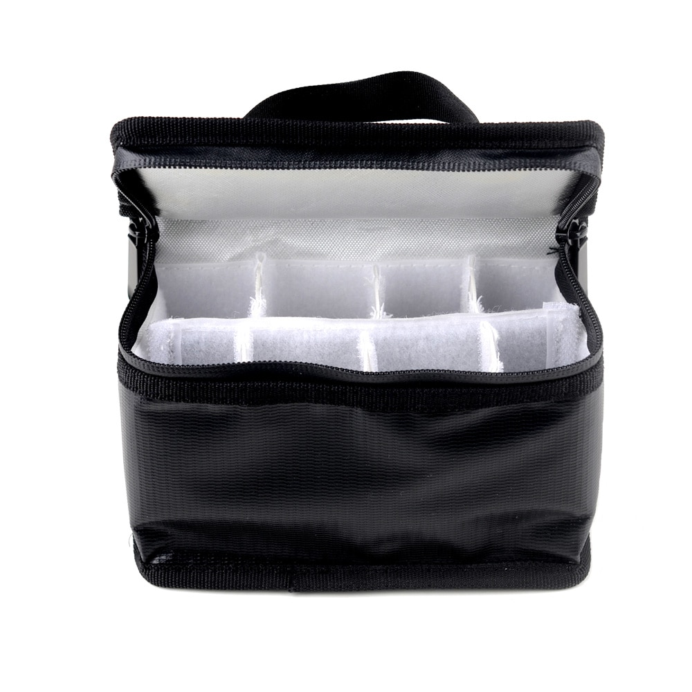 155x115x90mm Waterproof Fireproof Explosion-Proof Safety Bag Storage Bag Built-in8  Partition for FPV RC Model Drone Batteries enlarge