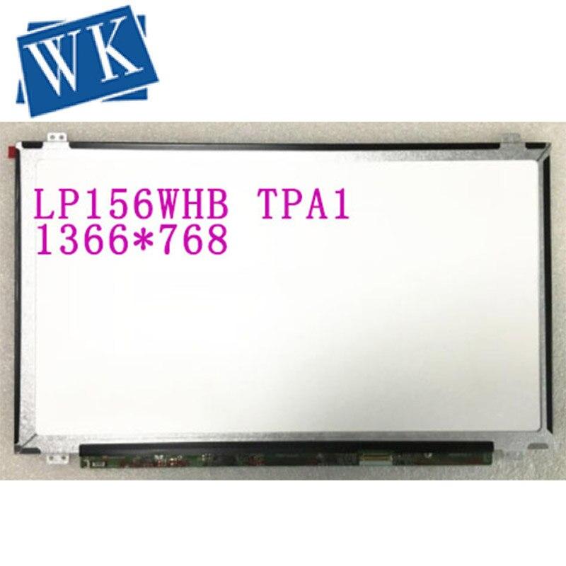Envío gratuito LP156WHB TPA1 TPA2 LP156WHB TPS1 TPS2 NT156WHM N12 NT156WHM N21 N22 pantalla lcd de ordenador portátil 1366*768 EDP 30 pines