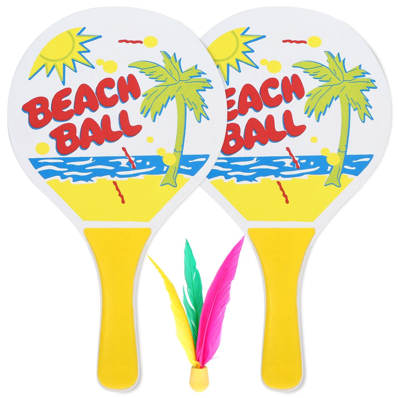 Divertido cricket raquete de badminton madeira praia cricket atirar tênis divertido pickleball pás entretenimento em casa conjunto fitness para ao ar livre