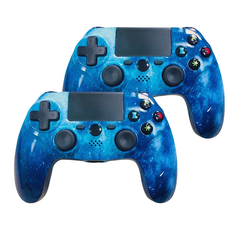 K ISHAKO Double SHock 4 Joystick PS4 Controller Wireless Gamepad for Playstation 4/Pro/Slim with Motion Motors Audio Function