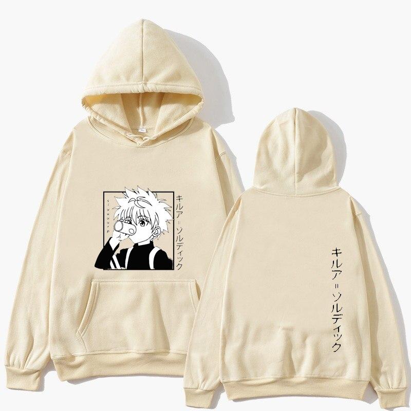 Kawaii Hunter X Hunter Hoodies Men Women Long Sleeve Sweatshirt Killua Zoldyck Anime Manga Hoodies Bluzy Tops Clothes