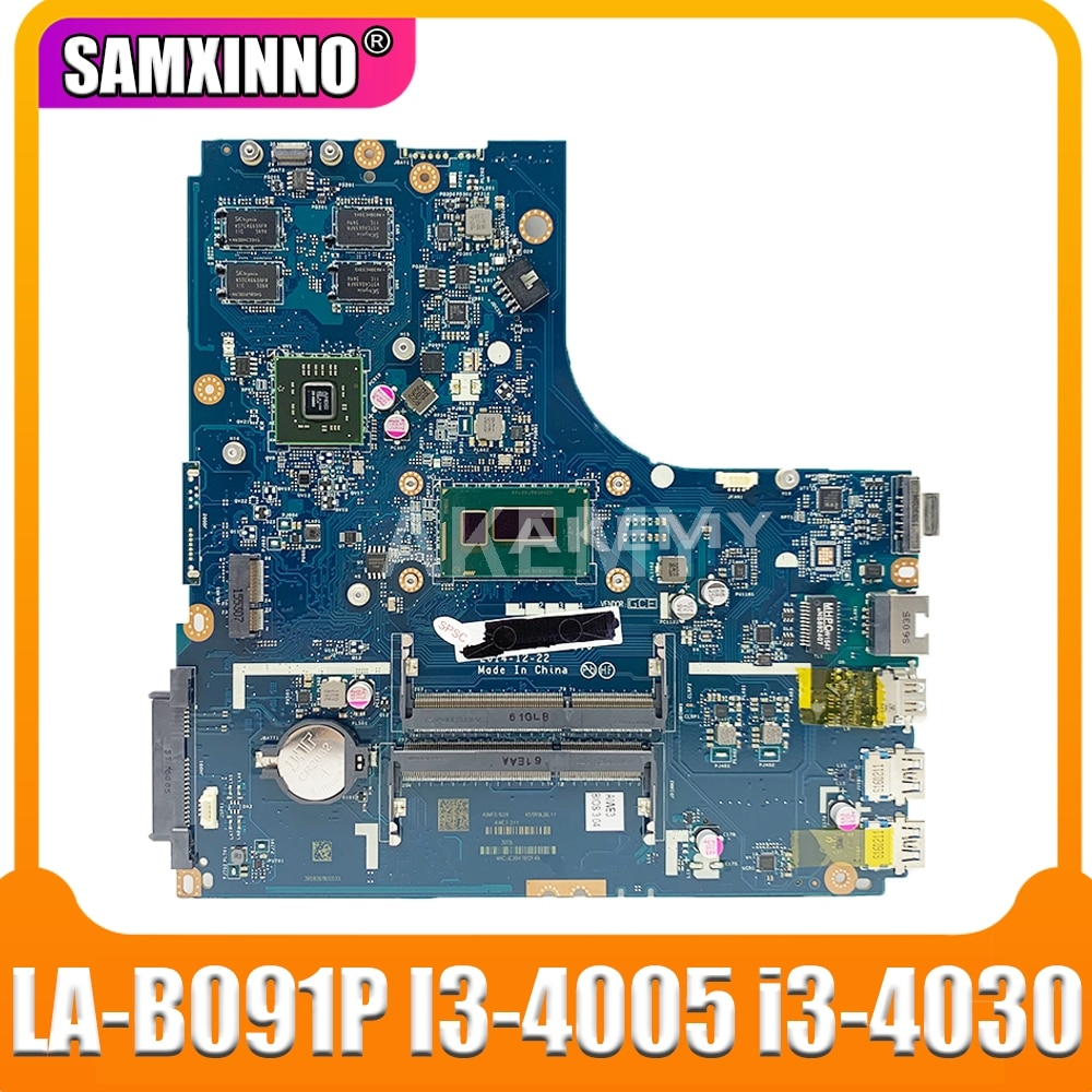 Nuevo Mianboard para For Lenovo Ideapad B50-70 placa base de computadora portátil ZIWB2/ZIWB3/ZIWE1 LA-B091P I3-4005 i3-4030 2GB GPU