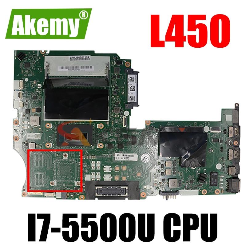 FRU 00HT696 AIVL1 NM-A351 اللوحة الأم لينوفو L450 ثينك باد L450 اللوحة الأم مع SR23W I7-5500U DDR3L 100% اختبارها بالكامل
