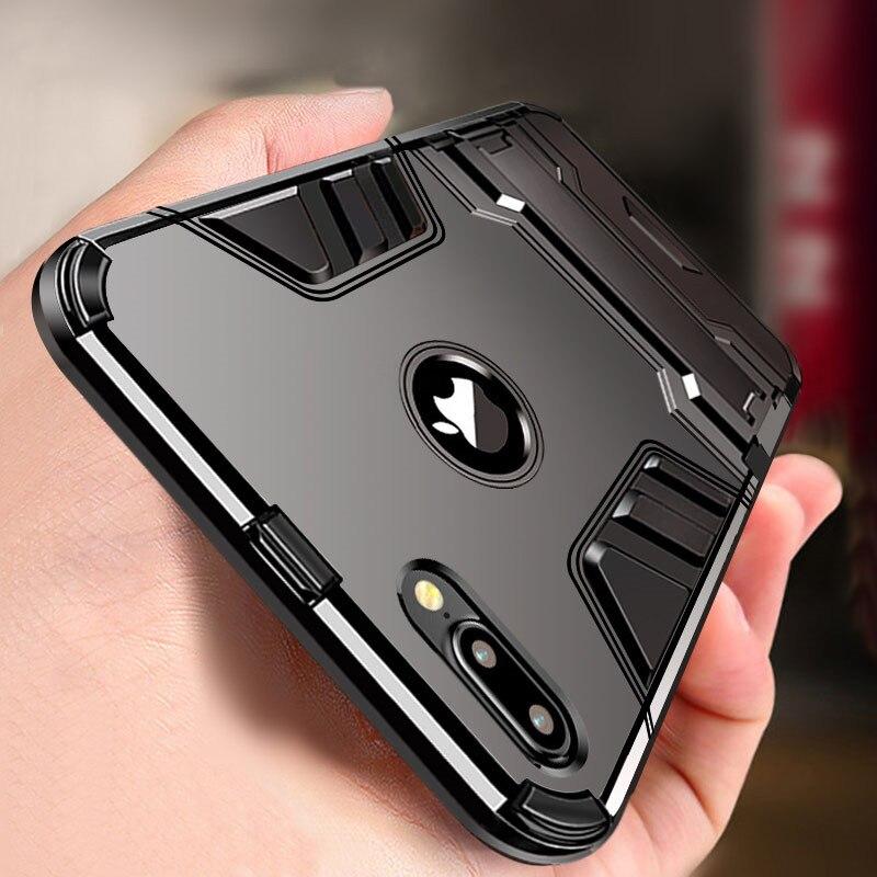 Funda de lujo 3D Cool Armor para iPhone 8 7 6 6S Plus 5 5s SE funda resistente híbrida a prueba de golpes para iPhone X XS MAX XR