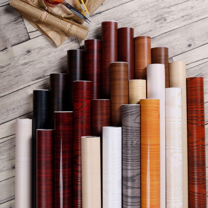 Уплотненный ПВХ водонепроницаемый самоклеющиеся обои рулон мебели шкафы декоративная пленка дерево зерна наклейки для DIY домашнего декора