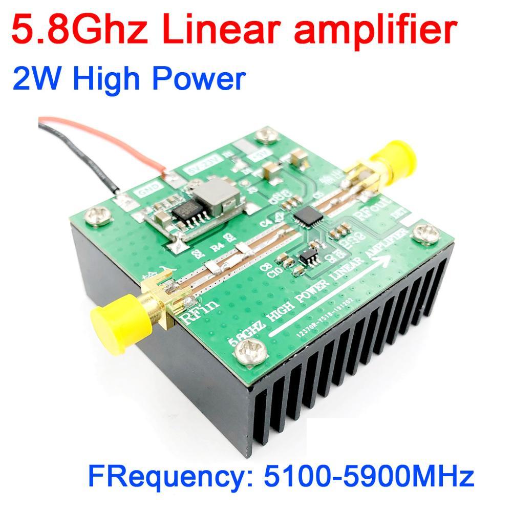 DYKB 5.8Ghz 2W High power Linear amplifier FPV image transmission RF amplifier Remote signal power Amplifier SE5004L 5800MHz