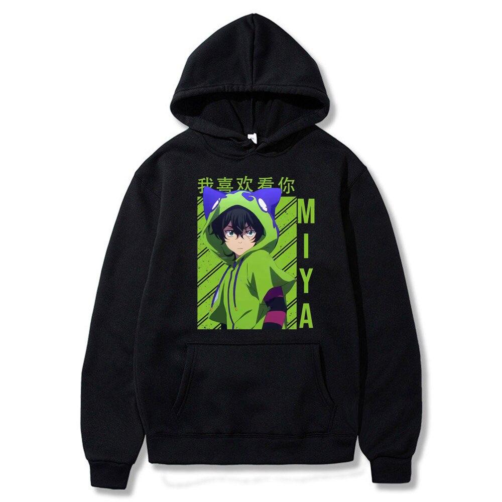 Черные толстовки с японским аниме принтом скейтборда, мужские/женские толстовки с длинным рукавом, модная одежда, толстовки SK8 The Infinity