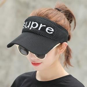 Sunbonnet Children Spring and Summer Empty Top Telescopic Knitting Sweat-absorbing Sunscreen Outdoor Travel Cap Korean Sun Hat