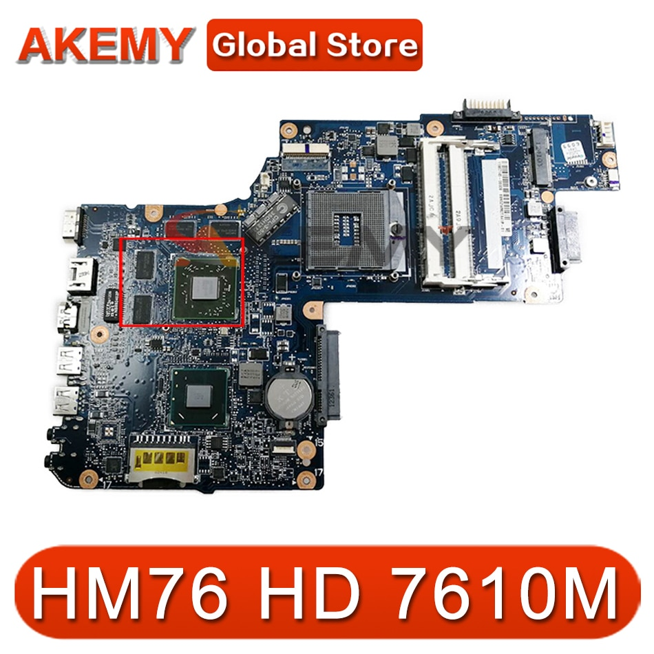 AKEMY جديد H000052690 اللوحة الرئيسية لتوتوشيبا الأقمار الصناعية C850 L850 اللوحة الأم للجهاز المحمول HM76 DDR3 HD 7610 متر الرسومات