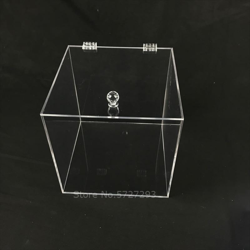 صندوق منظم مكعب أكريليك مع غطاء لتخزين المطبخ المنزلي ، مستحضرات التجميل ، لعبة ، شخصية ، الطباشير الملون ، علامات ، اللبنات ، الحرفية