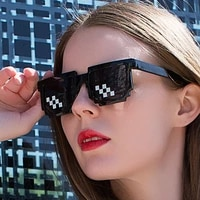fashion glasses shades 8 bit pixelated ladies sunglasses unisex eyeglasses mosaic sunglasses for men women thug life glasses