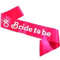 3pcs bride to be ribbon wedding decoration hen party bands bridesmaid maid of honor event sash wedding ribbons party supplies