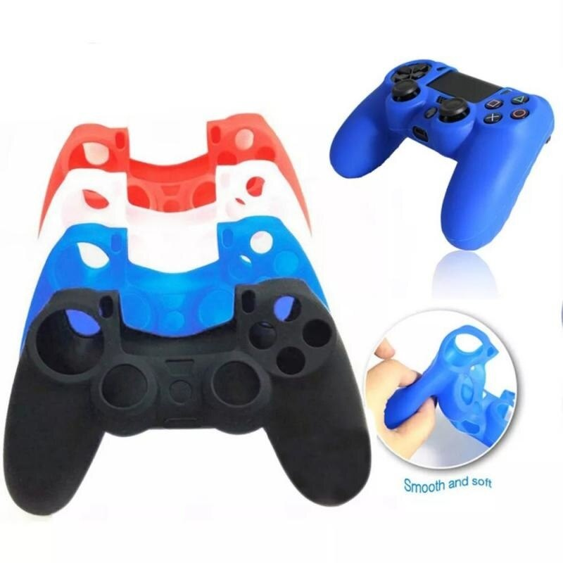 Rubber Gamepad Joystick Thumbstick Grip Cap Protective Skin Cover Case For Sony Playstation 4 PS4 Slim Pro Controller Cases 2021