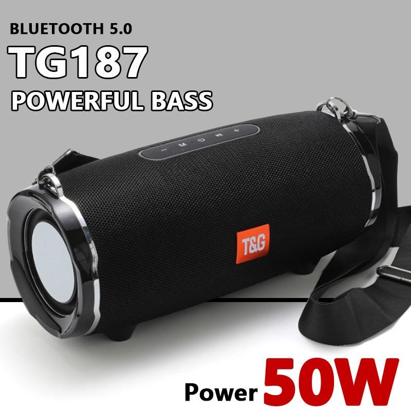 TG187 مكبر صوت بخاصية البلوتوث عالية الطاقة بقوة 50 وات مكبرات صوت كمبيوتر كمبيوتر محمول مقاوم للماء عمود سوبر قاعدة ثلاثية الأبعاد مضخم صوت ستي...