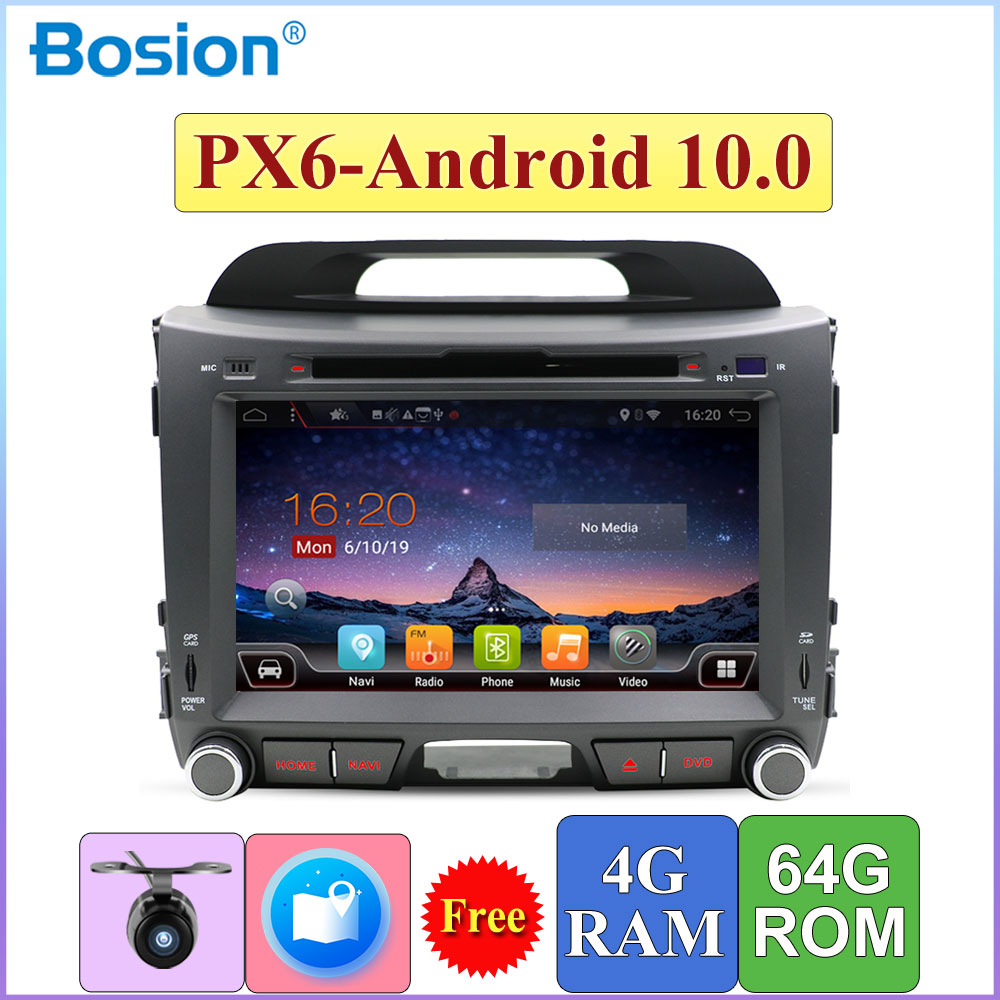 PX6 coche 2 Din reproductor de DVD GPS con DSP Android 10,0 para Kia Sportage R 2010-2015 RDS HDMI SWC DAB OBD 4G Cámara 4G RAM + 64G ROM
