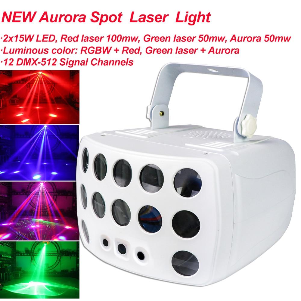 NEW Aurora Spot Laser Light RGBW LED Projector Lights DJ Sound Party Disco Light For Wedding Birthday Party KTV Home