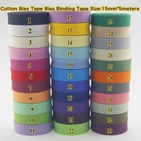 100 cotton bias tapesize15mmwidth58 5meterslot binding tape diy cloth material handmadevarious color