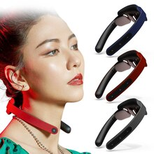 Electric Neck Massager Foldable Low Frequency Shoulder Pain Relief Pulse Infrared Heating Hot Compre