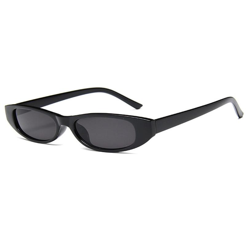 Vintage Trendy Ladies Eyewear Cat Eye Small Frame Sunglasses Women Rectangle Sun Glasses Men Shades