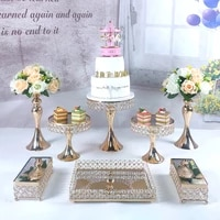 2020 hot 8pcs cake stand cupcake tray tools gome decoration dessert table decorating party suppliers wedding display