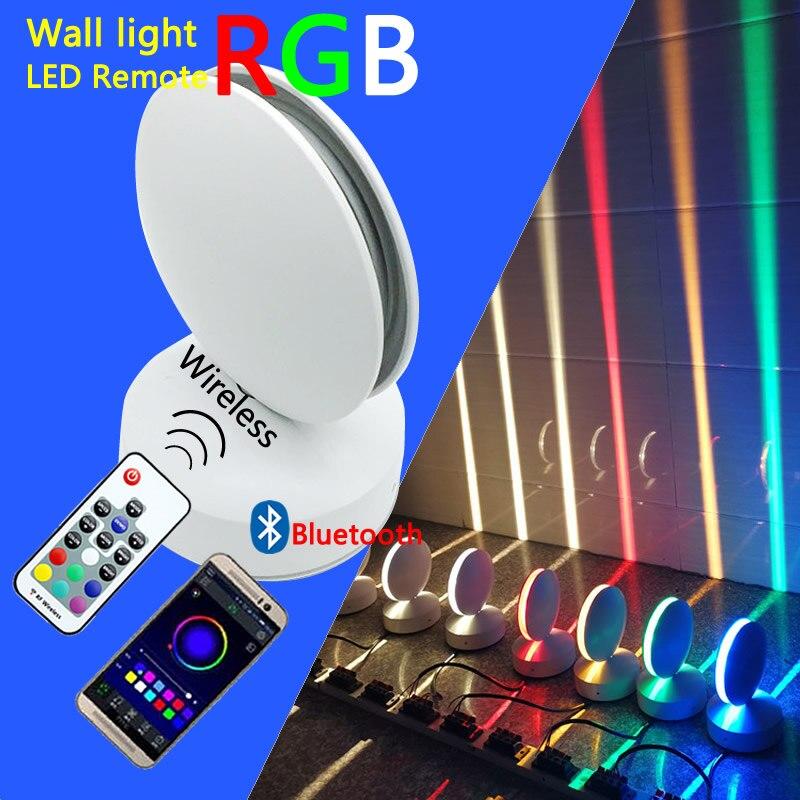 Luz LED de pared de 12W RGB, lámpara remota para ventana, marco de puerta de casa, pasillo, balcón, garaje, Hotel, restaurante, iluminación IP67 110V 220V