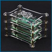 S ROBOT framboise Pi 4 modèle B boîtier acrylique coque transparente transparente pour framboise Pi 3B/3B Plus étui RPI138