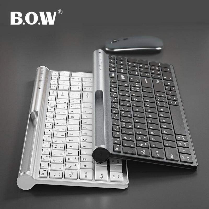 B.O.W لوحة المفاتيح اللاسلكية القابلة لإعادة الشحن USB 99 مفاتيح ، 2.4Ghz اللاسلكية ومنفذ Type-C مع جهاز استقبال USB نانو للنافذة الكمبيوتر أندرويد