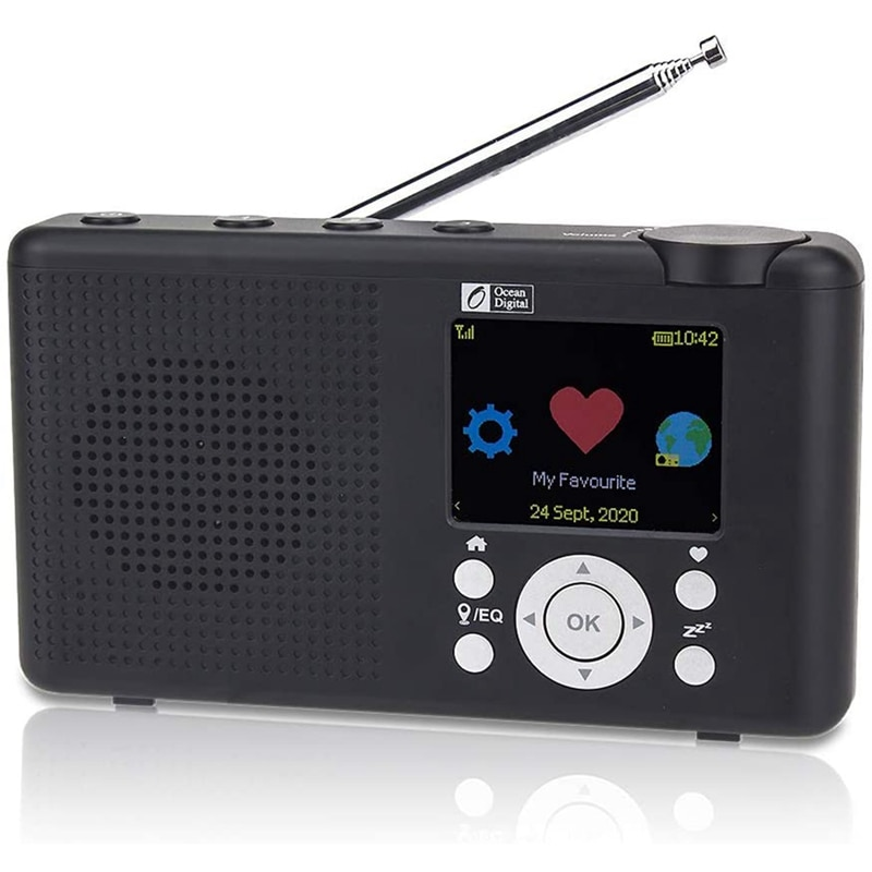 WR-23F Radio Internet Portable 2,4 inch Couleur LCD Rechargeable Batterie Wi-FI Bluetooth UPnP & DLNA Player Sleep