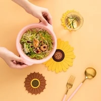 sunflowers heat resistant non slip kitchen placemat insulation coaster bowl dish cup pad pot holder table mat hom decor 51155