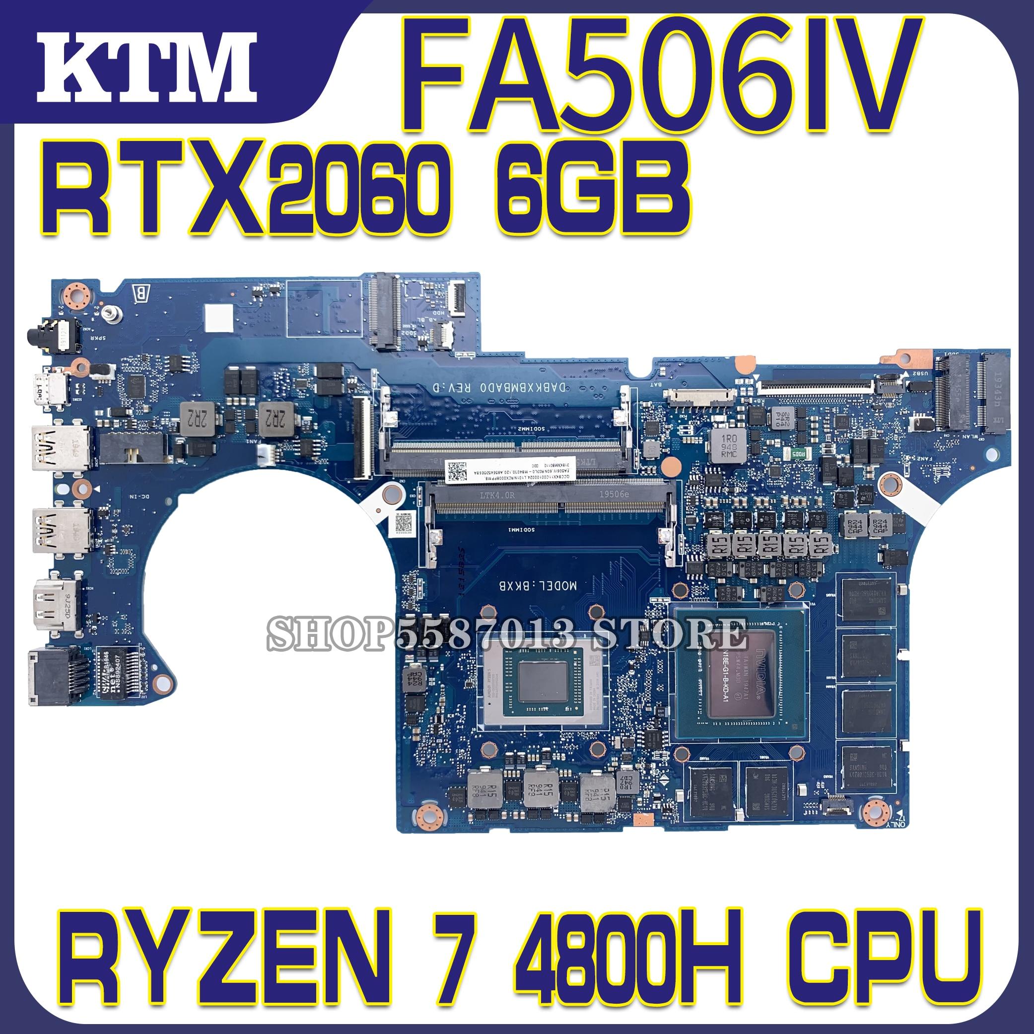 DABKXBMBAD0 placa base de Computadora Portátil para ASUS TUF de A15 FA506IV...