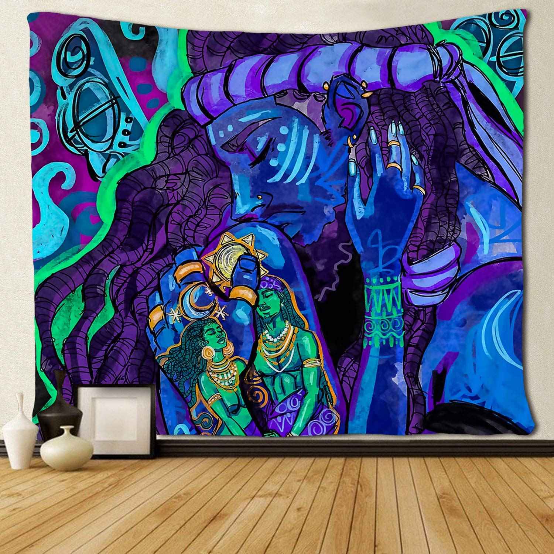Negro amante pareja africana americana arte tapices sala de estar dormitorio