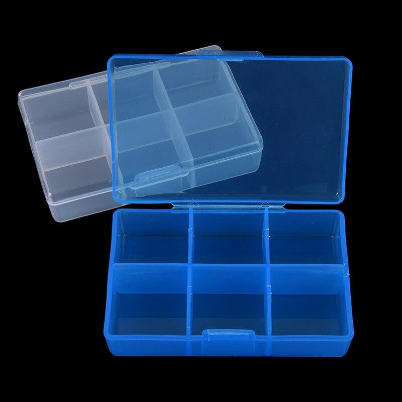 Recipiente para a medicina 7 dia divisores dispensador organizador caso 6 compartimento caixa de pílula clara pílula medicina tablet caso